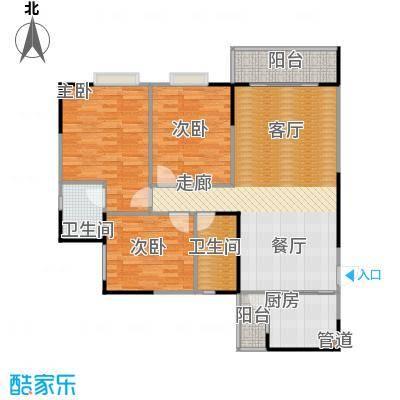 松华阁95.04㎡房型户型