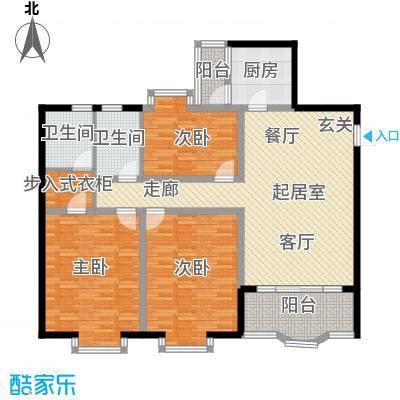 馨福花园户型3室2卫1厨