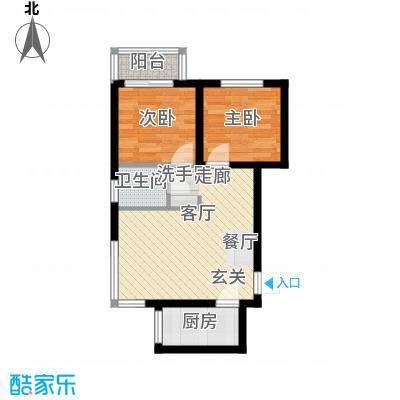 龙景尚都户型2室1厅1卫1厨