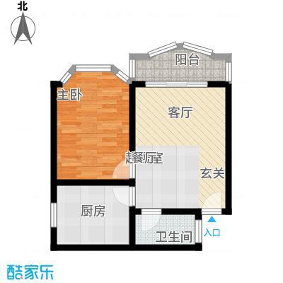秋实小区52.46㎡房型户型