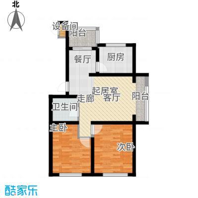 长电紫盈花城75.00㎡户型