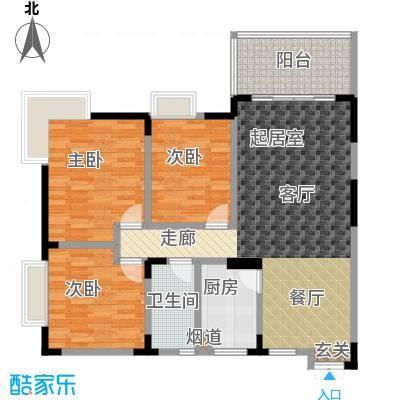 春风绿苑92.17㎡房型户型