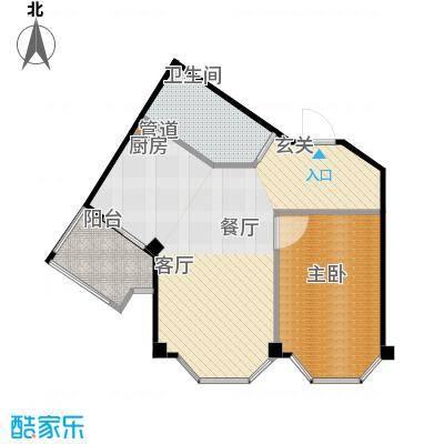 荣安和院户型1室1厅1卫