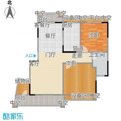 丹霞翠微苑户型2室1厅1卫1厨