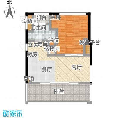 大舜天成自由城46.00㎡户型
