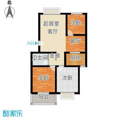 温泉公寓户型3室1卫1厨