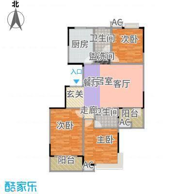 天启花园108.00㎡户型