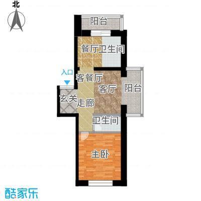 如意名苑61.00㎡房型户型