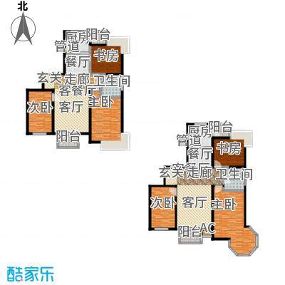 城中艺景110.00㎡房型户型