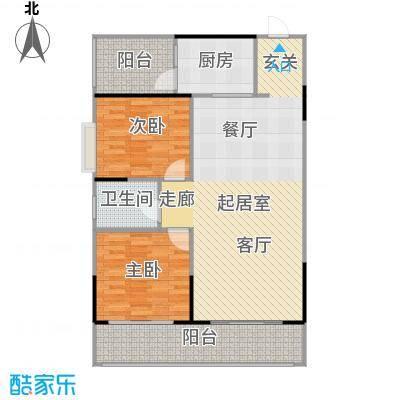 瑞凯・景城苑户型2室1卫1厨