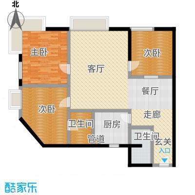 新洲阳光119.24㎡房型户型