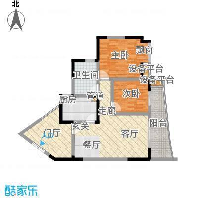 上海城二期74.00㎡-户型