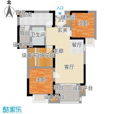 旭辉华庭88.85㎡E户型