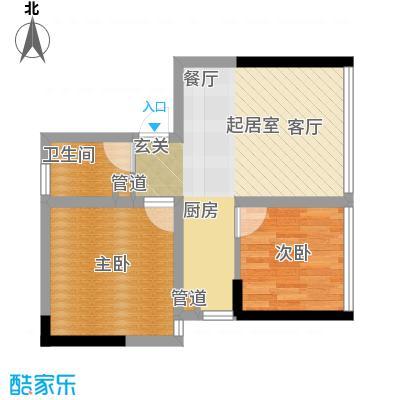 水晶石国际公寓48.98㎡房型户型