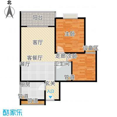 凤天竹园63.17㎡房型户型