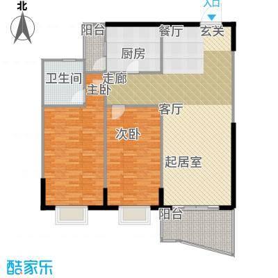 嘉新桃花里92.07㎡房型户型