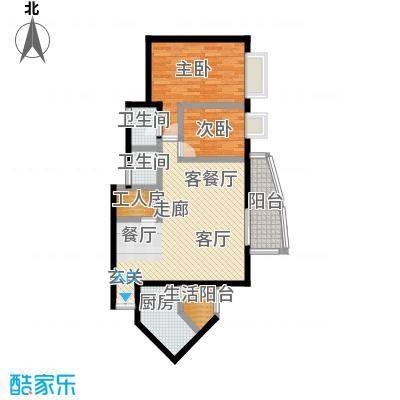 洋世达・阳光华庭82.64㎡房型户型