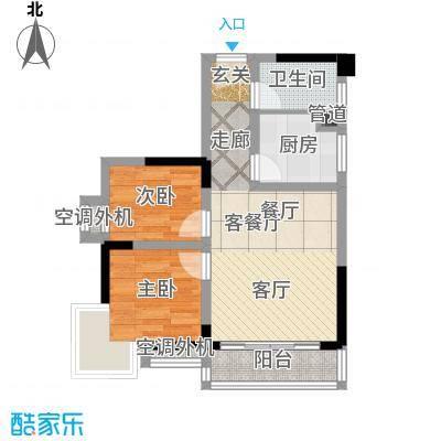 大川国际56.81㎡房型户型