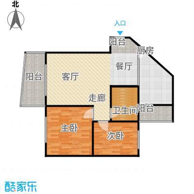 云湖花园48.49㎡房型户型