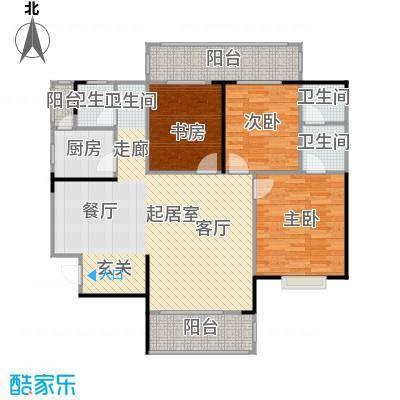 瑞凯・景城苑户型3室3卫1厨