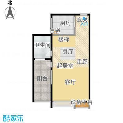 鑫远・湘府东苑鑫远a派92.71㎡商住楼B1户型