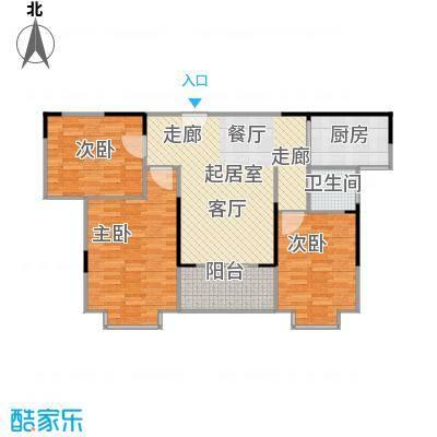 上林国际97.07㎡3栋C户型