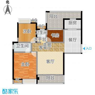 特房五缘尊墅户型3室1厅2卫1厨