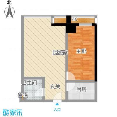 QQ生活馆户型1室1卫1厨