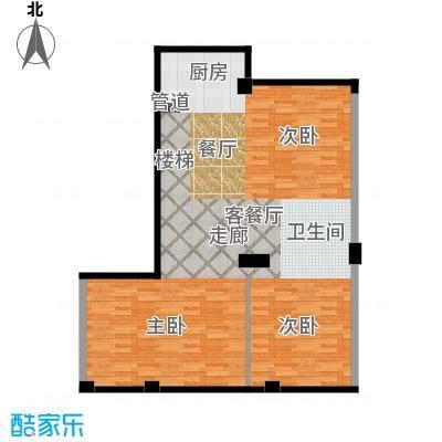 华锦铭苑93.36㎡户型