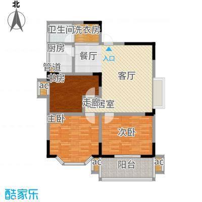 旺坤家园户型3室1卫1厨