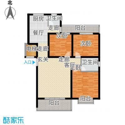 景香苑130.00㎡电梯房户型