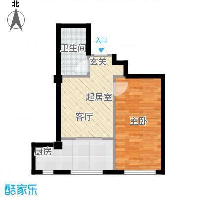 福佳华东人家39.58㎡户型