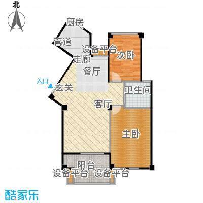 荣安和院户型2室1厅1卫1厨
