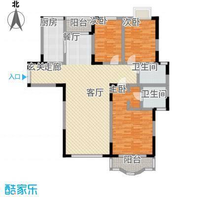 恒润花园124.31㎡14370m2户型