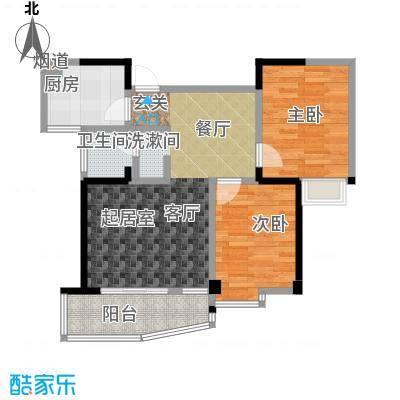 西城龙庭户型2室1卫1厨