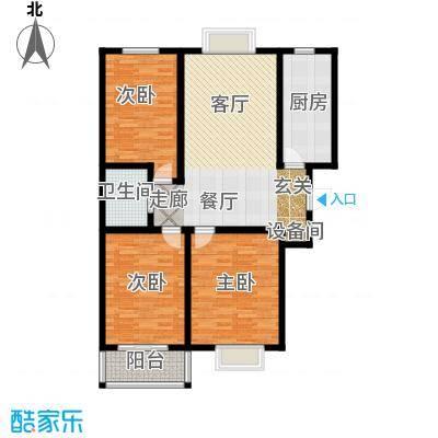 富世康园115.03㎡B号楼尊享大空间户型