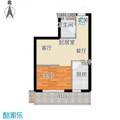 红田美林居51.58㎡A户型