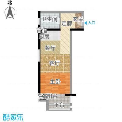 中天国际公寓50.00㎡户型