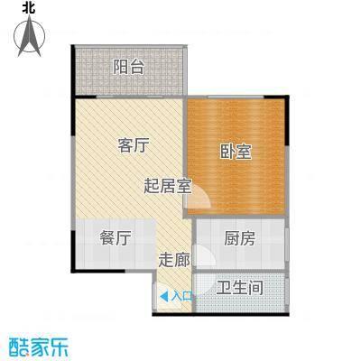 上林国际56.27㎡A户型