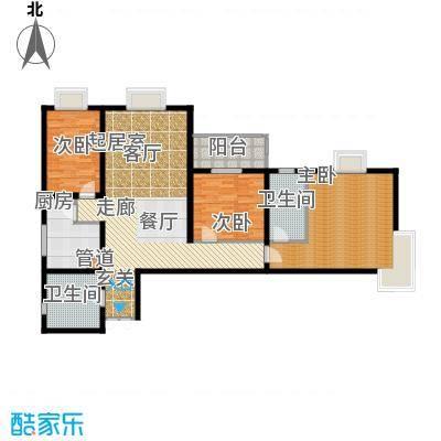 中登家园121.59㎡户型
