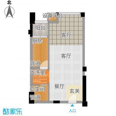 新青年公寓53.81㎡B户型
