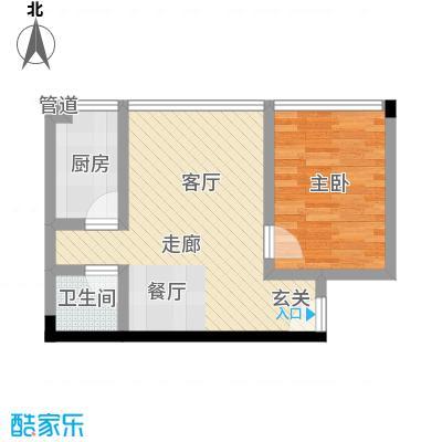 天一顺和康城42.15㎡房型户型