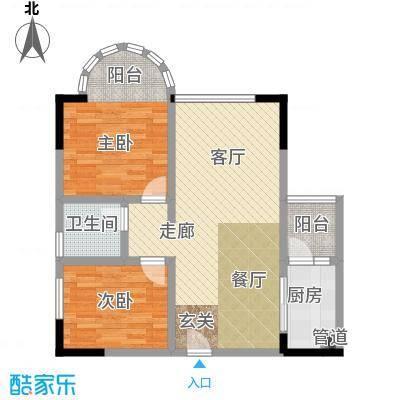 奇峰自由湾71.22㎡房型户型