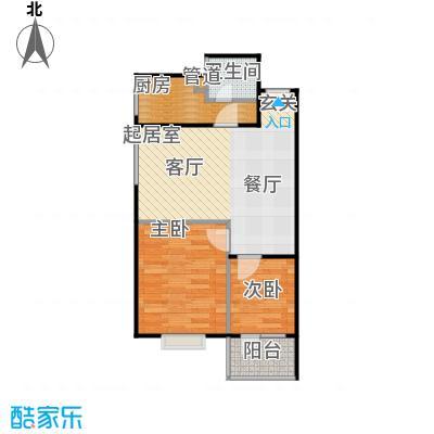 凤天竹园56.65㎡房型户型