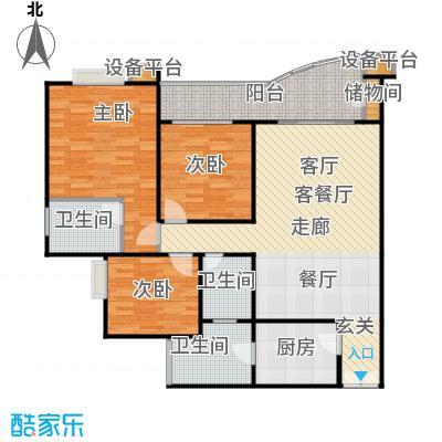 晋愉・九龙湾85.00㎡房型户型