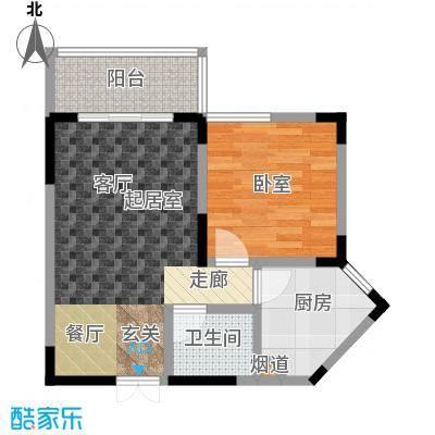 春风绿苑45.00㎡房型户型
