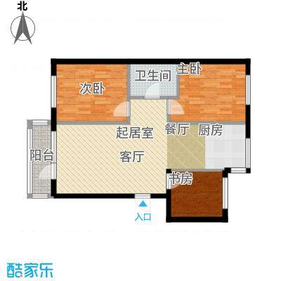 新港假日户型3室1卫