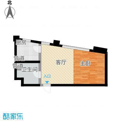 华兴彼得公寓43.24㎡户型