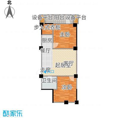 水木华庭户型2室1卫