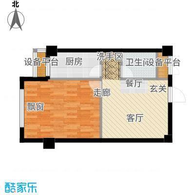 中河名庭50.00㎡1户型